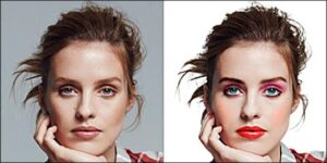 Glamour Retouch Example